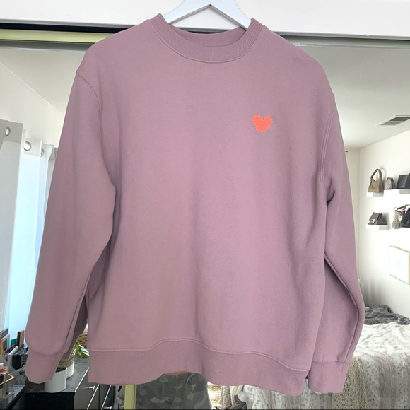 Wild Fable Pink Heart Graphic Oversized Sweatshirt